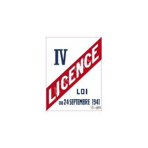 panneau-rectangulaire-licence-iv